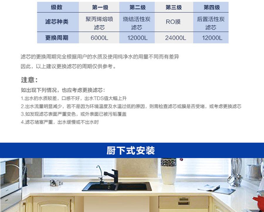 海尔智能净水器HRO500-4