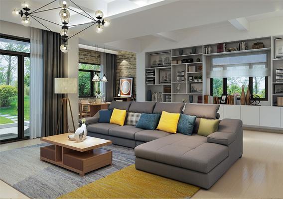 现代风格 两居室 简约而不简单