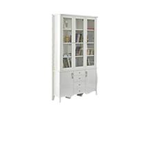 烤瓷白亮光木制书柜
