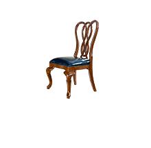美式胡桃色实木餐椅