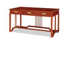 南美花梨木写字台书桌