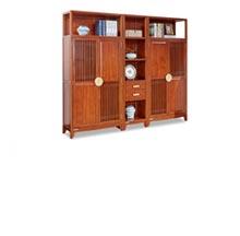 南美花梨木书房组合两门书柜