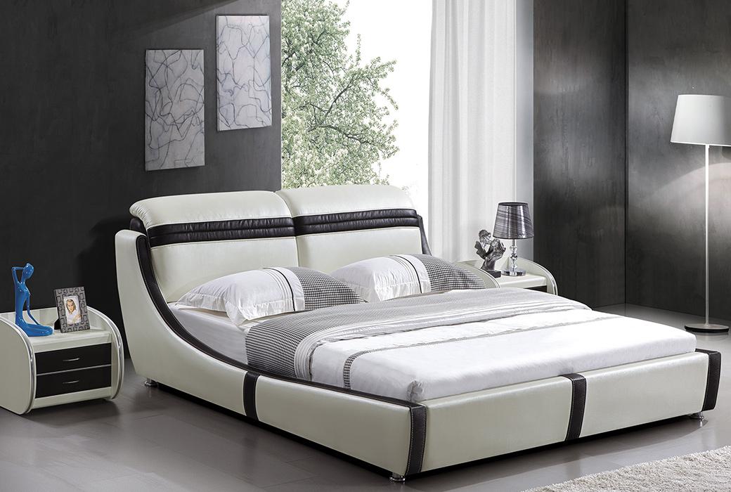 【爱情天使】现代风格 时尚前沿1.8米真皮排骨架床 ND-213-18C