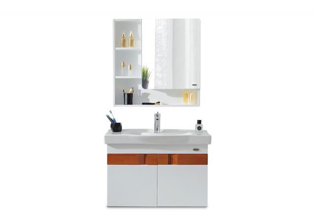 【浪鲸】后现代简约卫生间组合悬挂式吊柜浴室柜 BF6113(含抽拉龙头配件)