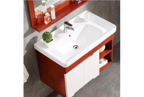 唐彩實木浴室柜