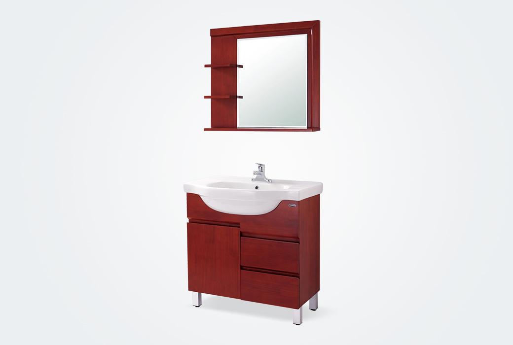 【箭牌衛浴】現代風格 泰國進口橡木實木落地浴室柜單孔龍頭 APGM8L352C