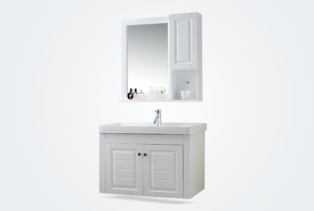 【立家卫浴】RM8816 简欧浴室柜组合实木卫浴柜卫生间洗脸洗手盆柜RM8816(含配件包安装)
