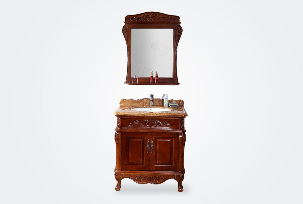 【唐彩衛浴】 TC3920A-8 歐式奢華 實木紅橡木精工仿古浴室柜