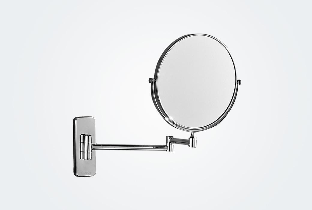【卡贝】浴室化妆镜美容镜 卫生间壁挂墙折叠伸缩镜子 6008F