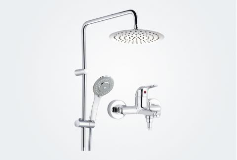 【摩恩】全铜淋浴花洒卫浴套装12333+22060(不锈钢200mm)