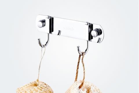 【卡貝】不銹鋼掛鉤實心毛巾排勾子廁所墻壁金屬掛衣勾排鉤T52