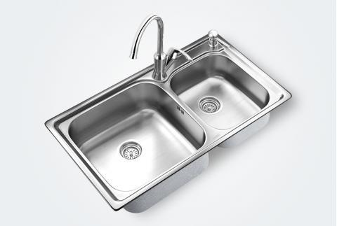 【摩恩】29104+60111EC 304不锈钢拉丝面洗菜盆厨盆水槽套装29104+60111EC