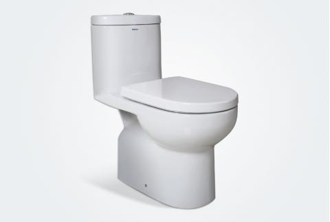 【法恩莎】法恩莎直冲式马桶抽水马桶家用陶瓷座 FB16115 400mm坑距
