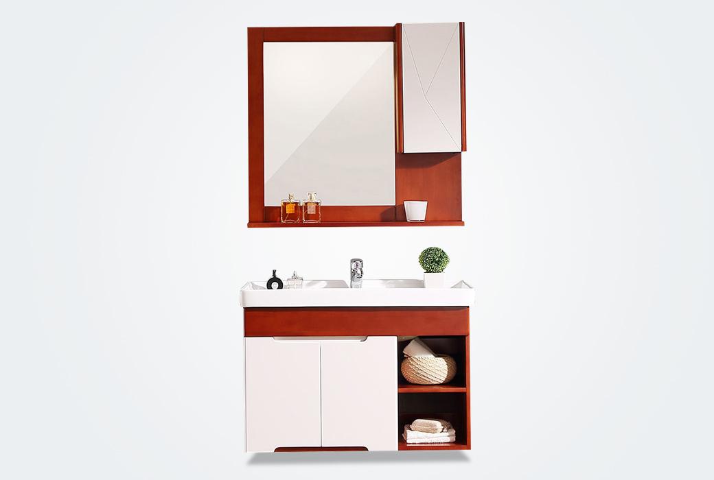 【唐彩卫浴】欧式田园 橡木实木挂墙浴室柜 TC8820W-8