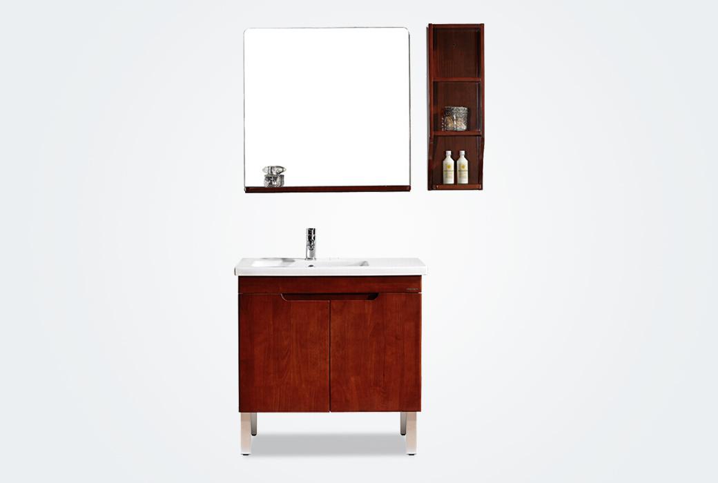 【法恩莎】實木浴室柜 美式鄉村風格組合落地式 FPGM3649-B