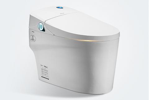 【法恩莎】一體智能馬桶坐便器 自動沖水暖風烘干座圈加熱FB16165 400mm坑距