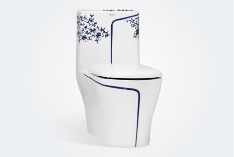 【箭牌卫浴】 中式风格 青花瓷彩绘马桶AB1271BLD