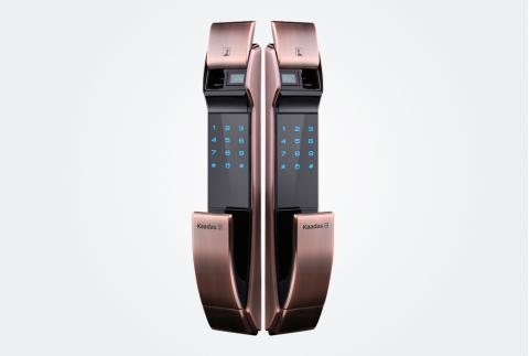 凯迪仕(KAADAS) 指纹锁 K7 密码锁智能锁防盗门锁 家用防盗门锁 电子密码锁 红古铜