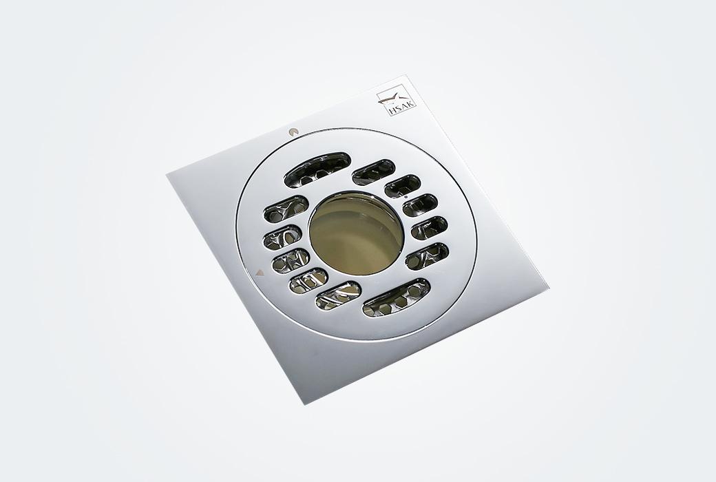 【汉鲨】洗衣机精铜地漏 防臭大排量卫生间地漏 铜镀铬亮面经典系列D1101X