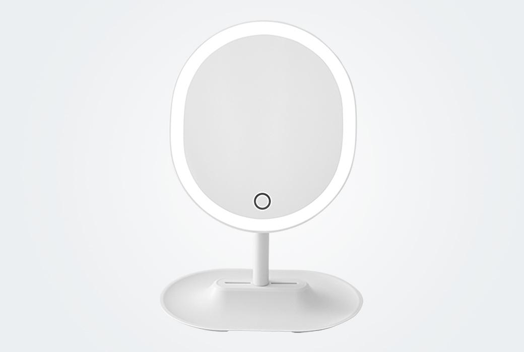 【网易严选】指触LED子母化妆镜 白色 1165580