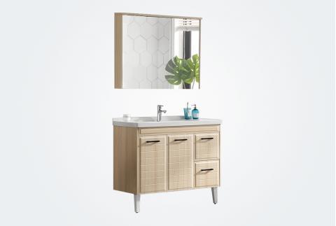 【卡贝】 浴室柜洗手台面盆柜简约美式卫生间洗漱台Y1202-80-枫木