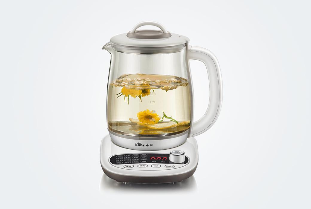 【小熊电器】养生壶 全自动家用玻璃一体电热水壶保温壶 YSH-B18P1 1.8升(积分商城)