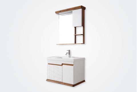【帝王洁具】浴室柜组合简欧简约洗手洗脸柜盆面盆洗手池小户型浴室柜DS-CB0806