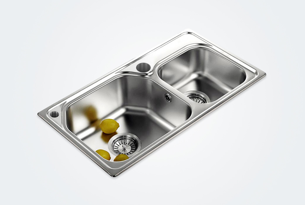 【科勒佳德】廚房304不銹鋼多功能雙槽水槽21413T(不含龍頭)