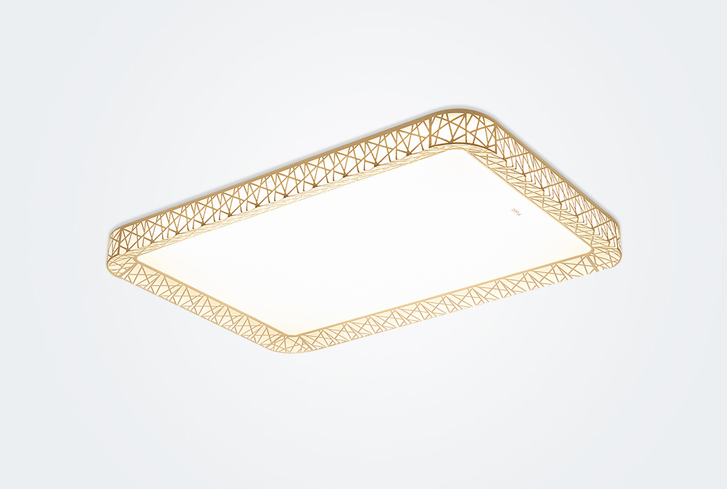【欧普照明】LED客厅吸顶灯 现代简约调光调色长方形送遥控器 月疏影(不含安装)