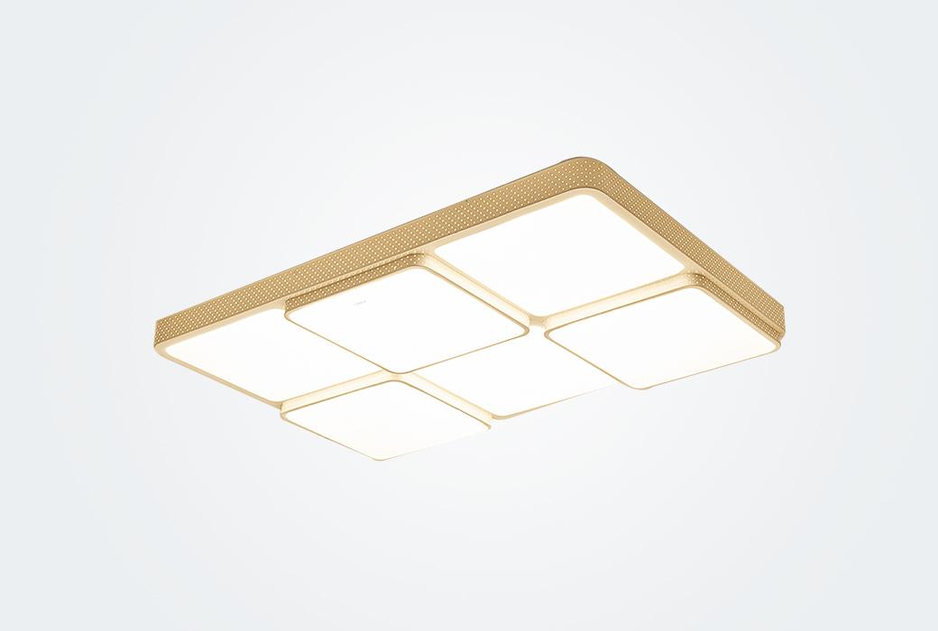 【歐普照明】LED客廳長方形吸頂燈 大氣現代簡約燈具送遙控器 愛的魔方(不含安裝)