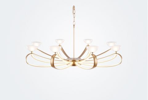 【歐普照明】時尚吊燈 智能調光創意個性餐廳客廳臥室裝飾吊燈 依蕓 8頭吊燈(不含安裝)