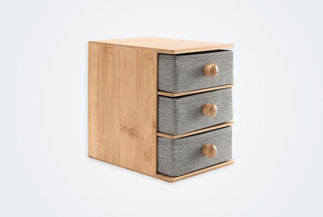 【網易嚴選】竹木拾光桌面抽屜柜 三層抽屜 1743207