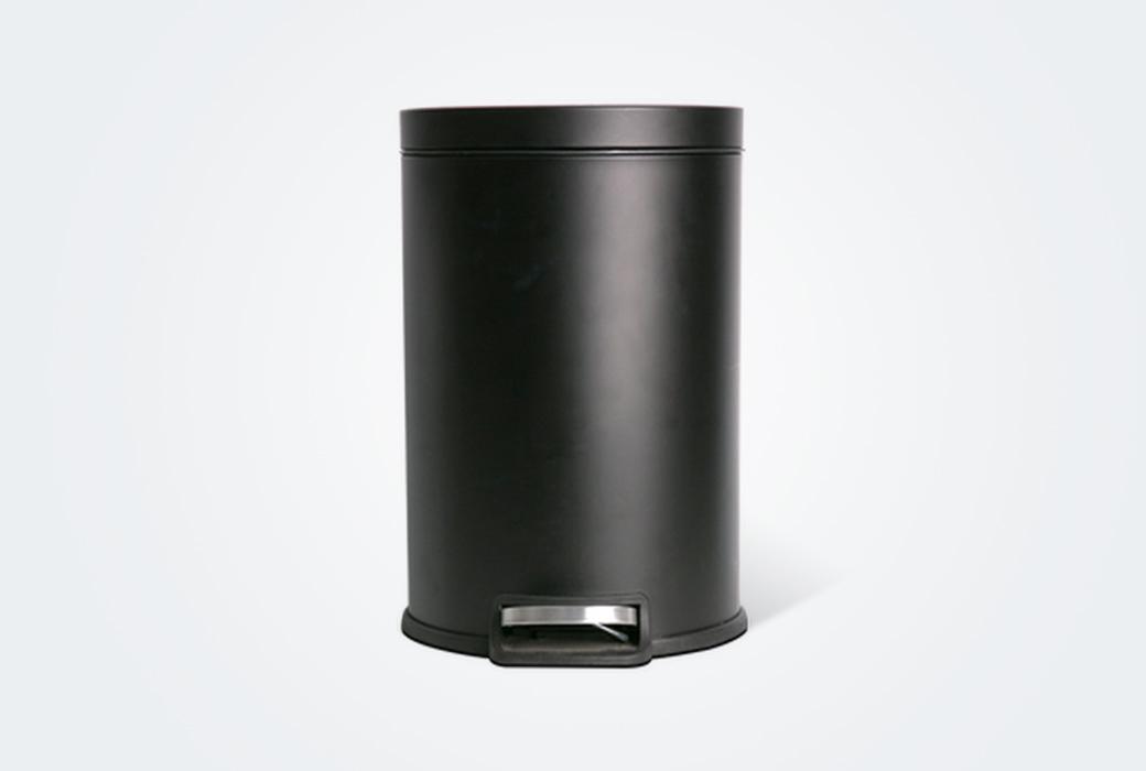 【網易嚴選】腳踏式靜音垃圾桶 12L 黑色1518063(積分商城)