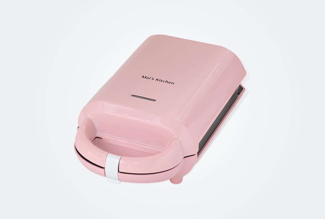Maiskitchen麥子廚房多功能三分鐘早餐機華夫餅機彩虹三明治機 SW-005 粉色