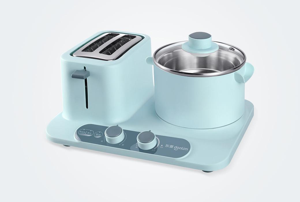 東菱早餐機多功能鍋三合一家用輕食機懶人吐司烤面包機蒸蛋多士爐 綠色