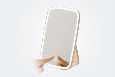 佐敦朱迪LED化妝鏡帶燈臺式梳妝鏡宿舍桌面女折疊美妝燈補光鏡子 NV026