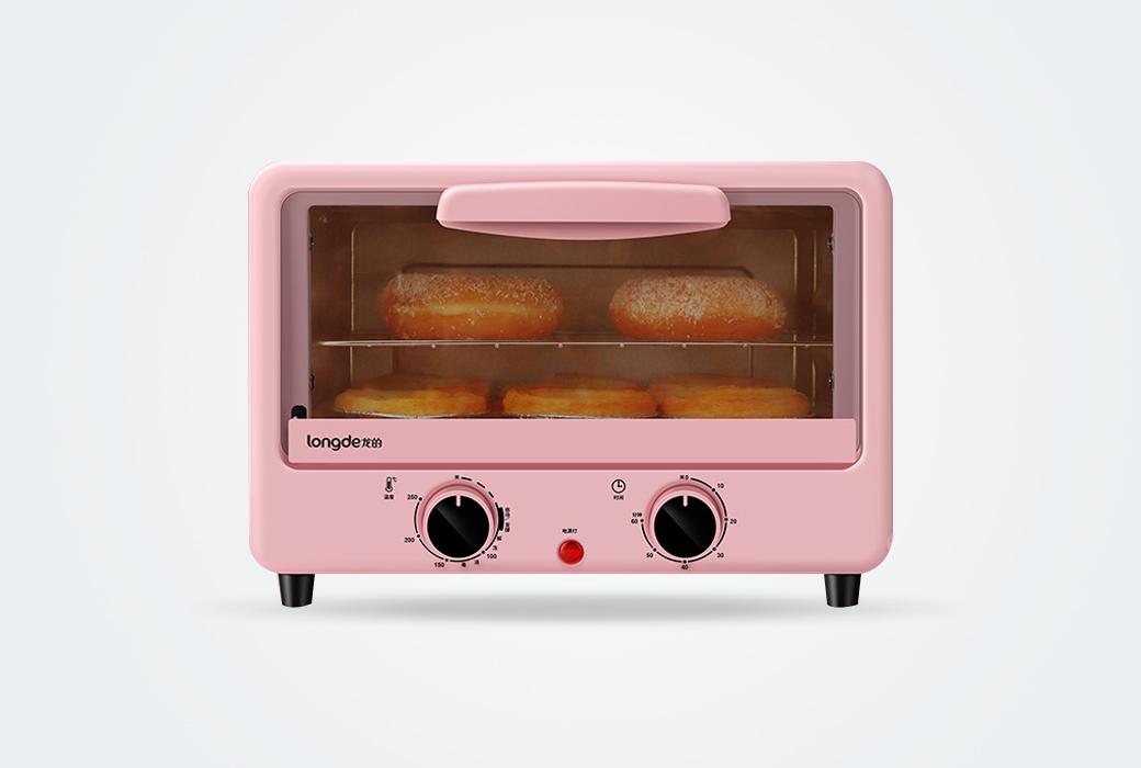【龍的】清新少女粉 電烤箱LD-KX12C
