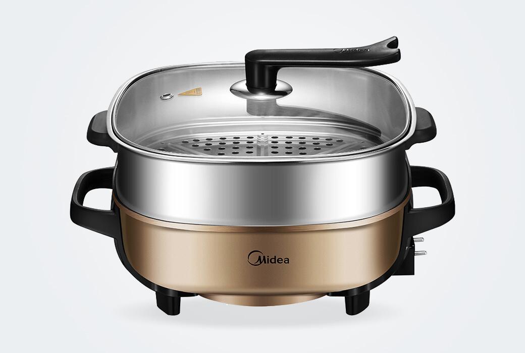 【美的電器】多用途鍋家用電火鍋電煮鍋電熱鍋電炒鍋電蒸鍋6L大容量 可煎烤 MC-LHN30C