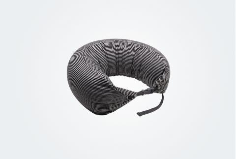 【網易嚴選】不管哪里想睡就睡,日式多功能頸枕 黑灰條紋 1490005