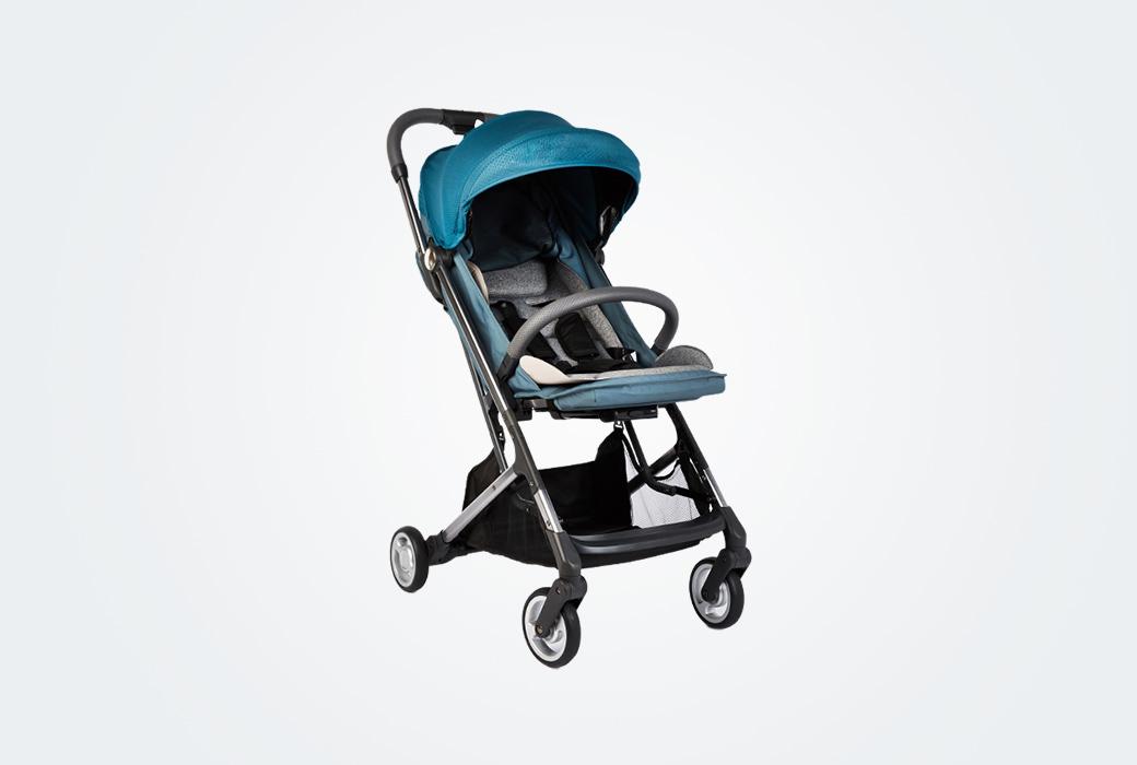 【網易嚴選】輕巧可上飛機,可登機嬰兒推車 墨綠色推車 3592064
