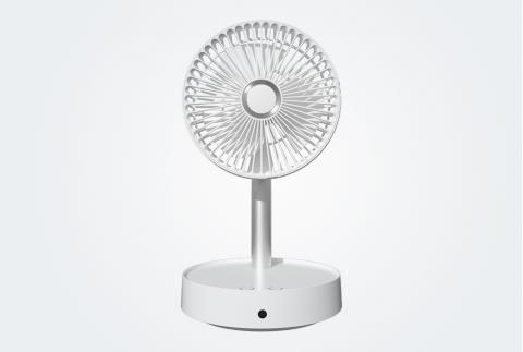 懸浮收納落地扇電風扇家用靜音臺式充電循環大電扇伸縮折疊風扇Q7