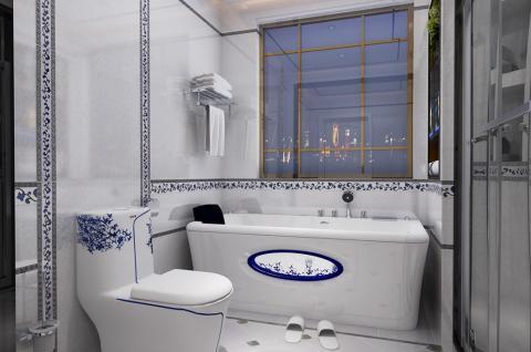 中式风格-卫浴设计 清新典雅 青花烟雨(箭牌卫浴空间包)