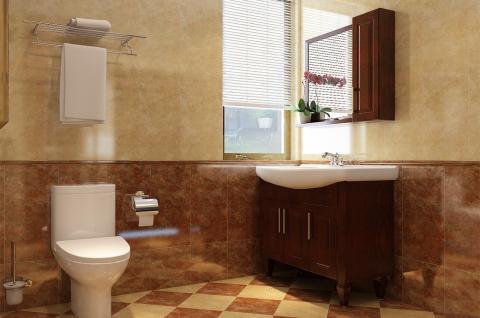 中式风格-卫浴设计 沐日归园(箭牌卫浴空间包)