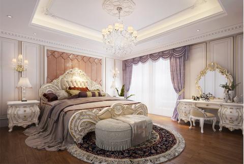 法式风格-卧室设计 玩转法式浪漫(玫瑰庄园)