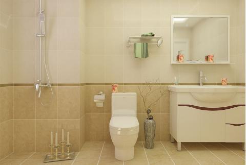 地中海风格-卫浴设计(箭牌卫浴+马可波罗瓷砖)