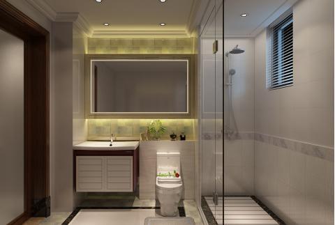 现代风格卫浴设计 会呼吸的浴室(箭牌卫浴空间包)