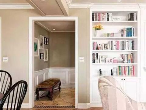 温馨典雅的质感美居,简约美式风110㎡客厅