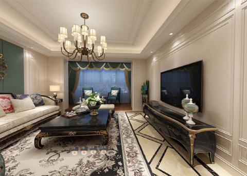 蒙娜麗莎的明亮舒適的美式 客廳